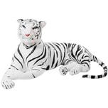 Brubaker Riesiger Tiger 150cm Weiß Stofftier Plüschtier