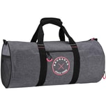Brubaker Duffel Bag Sporttasche 27 L 54 cm x 25 cm Ø Anthrazit Grau Melange/Pink