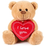 Brubaker Teddy Plüschbär mit Herz Rot - I Love You - 25 cm - Teddybär Plüschteddy Kuscheltier