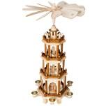 Brubaker Weihnachtspyramide aus Holz - 4 Etagen - 60 cm Höhe - handbemalte Figuren