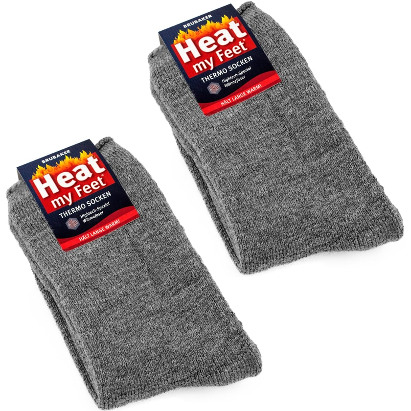 Brubaker 2 Paar Heat my Feet Unisex Thermo Socken