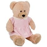 Brubaker Bärenmädchen mit rosa Kleid 100 cm Beige Stofftier