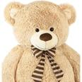 Brubaker Riesiger XXL Teddybär 150cm Beige mit einem Ich liebe Dich Plüschherz