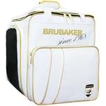 Brubaker Super Grenoble Skischuhtasche Helmtasche Rucksack mit Schuhfach Weiß Gold