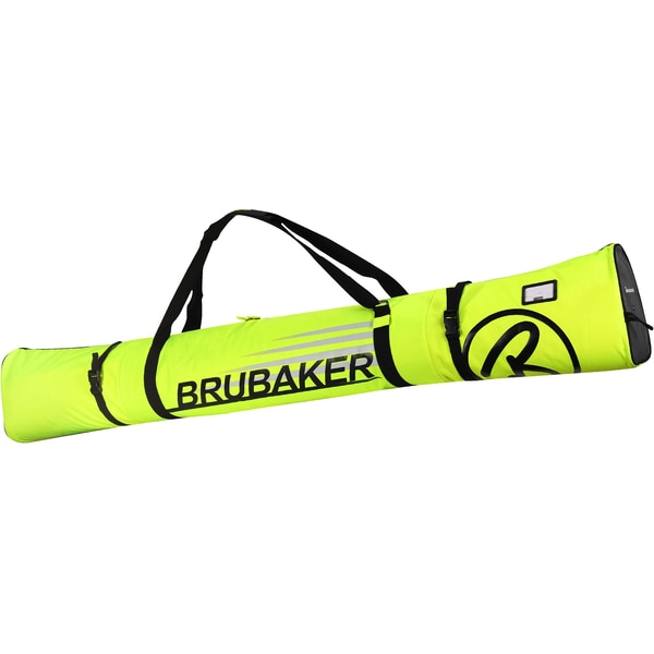 Brubaker Carver Champion Skitasche für 1 Paar Ski und Stöcke Neon Gelb/Schwarz