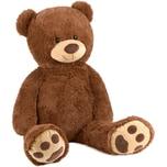 Brubaker XXL Teddybär 100 cm groß Braun Stofftier Plüschtier Kuscheltier