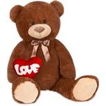 Brubaker XXL Teddybär 100 cm Dunkelbraun mit einem Love Herz