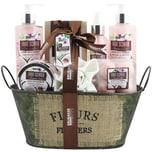 Brubaker Bade- und Dusch Set Kokosnuss & Erdbeer Duft 10-teiliges Geschenkset in Vintage Wanne