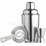 KitchenCraft Cocktail-Geschenkset 3-tlg. edelstahl