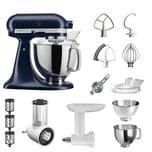 KitchenAid Küchenmaschine Artisan 5KSM175PS Starter Paket tintenblau