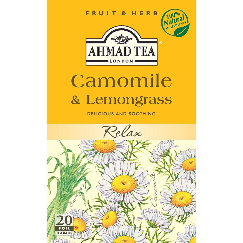 Ahmad Tea- Camomile & Lemongrass 30g, 20 Beutel