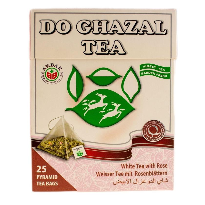 Do Ghazal Weißer Tee mit Rosenblätter 50g, 25 Beutel