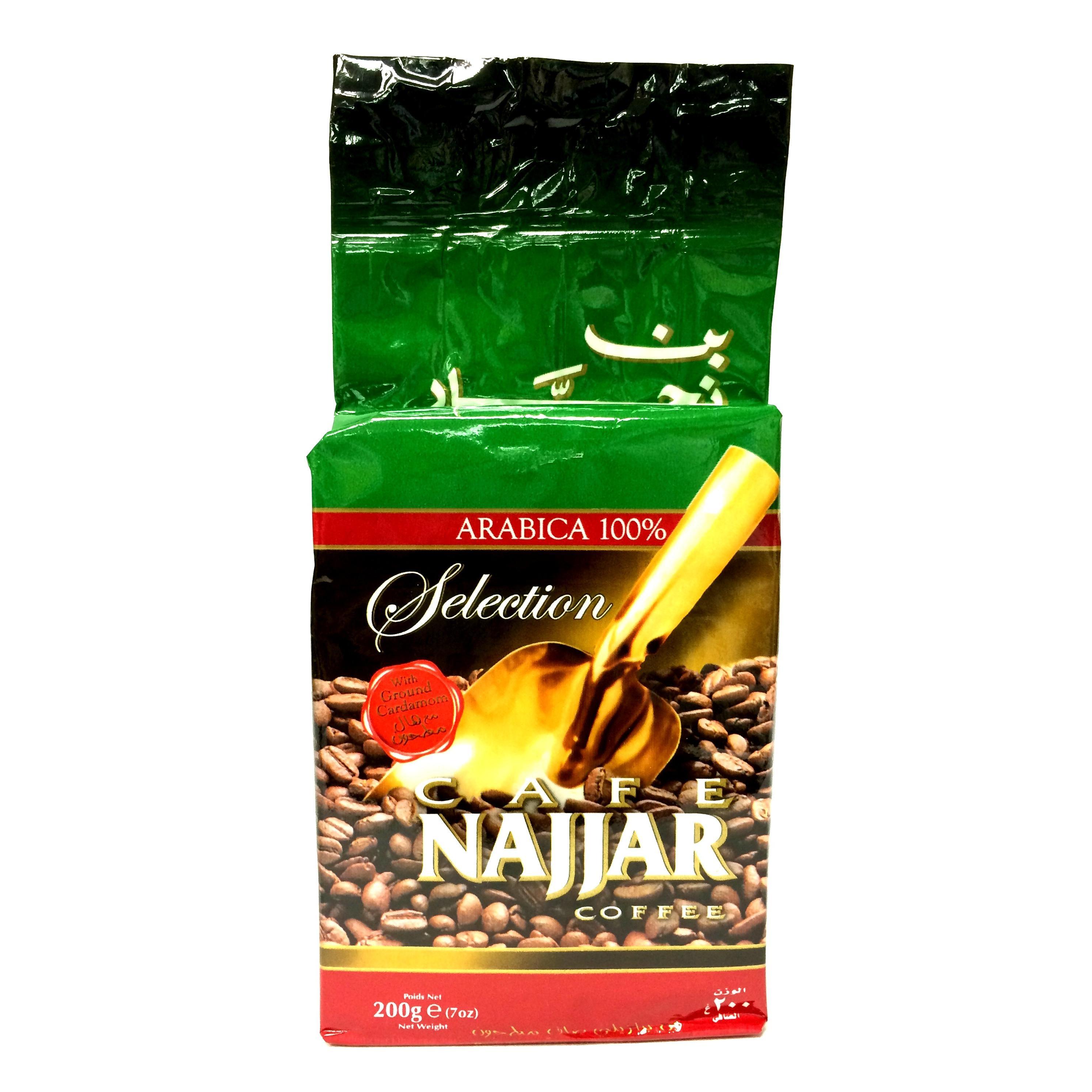 Najjar Arabischer Mokka Kaffee mit Kardamom gemahlen 200g