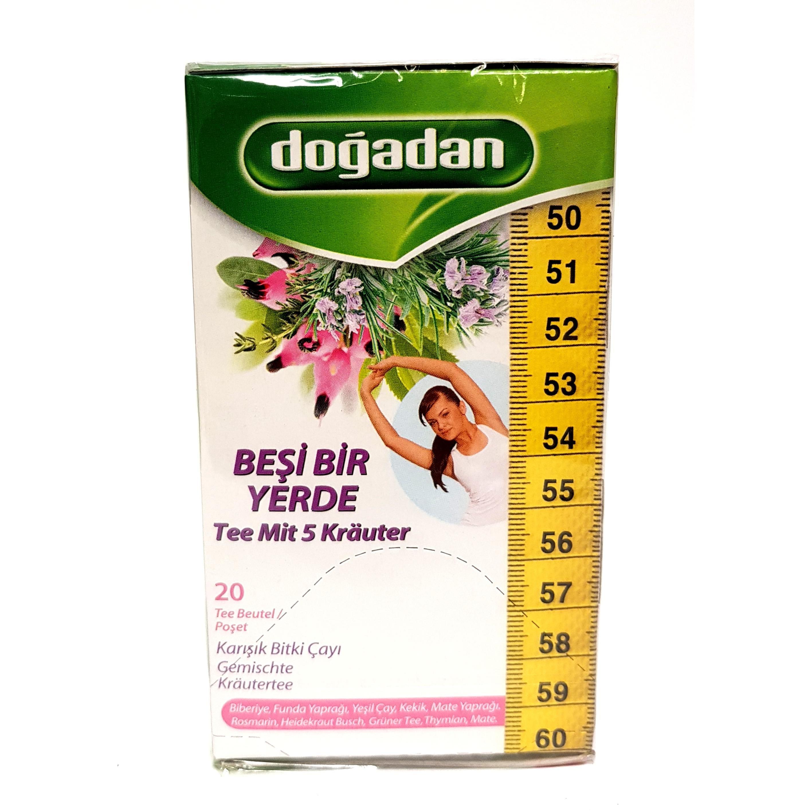 Dogadan Tee aus fünf Kräutern (20 x 1,5g Beutel) 30g
