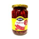 Sofko rote scharf eingelegte Peperoni 300g