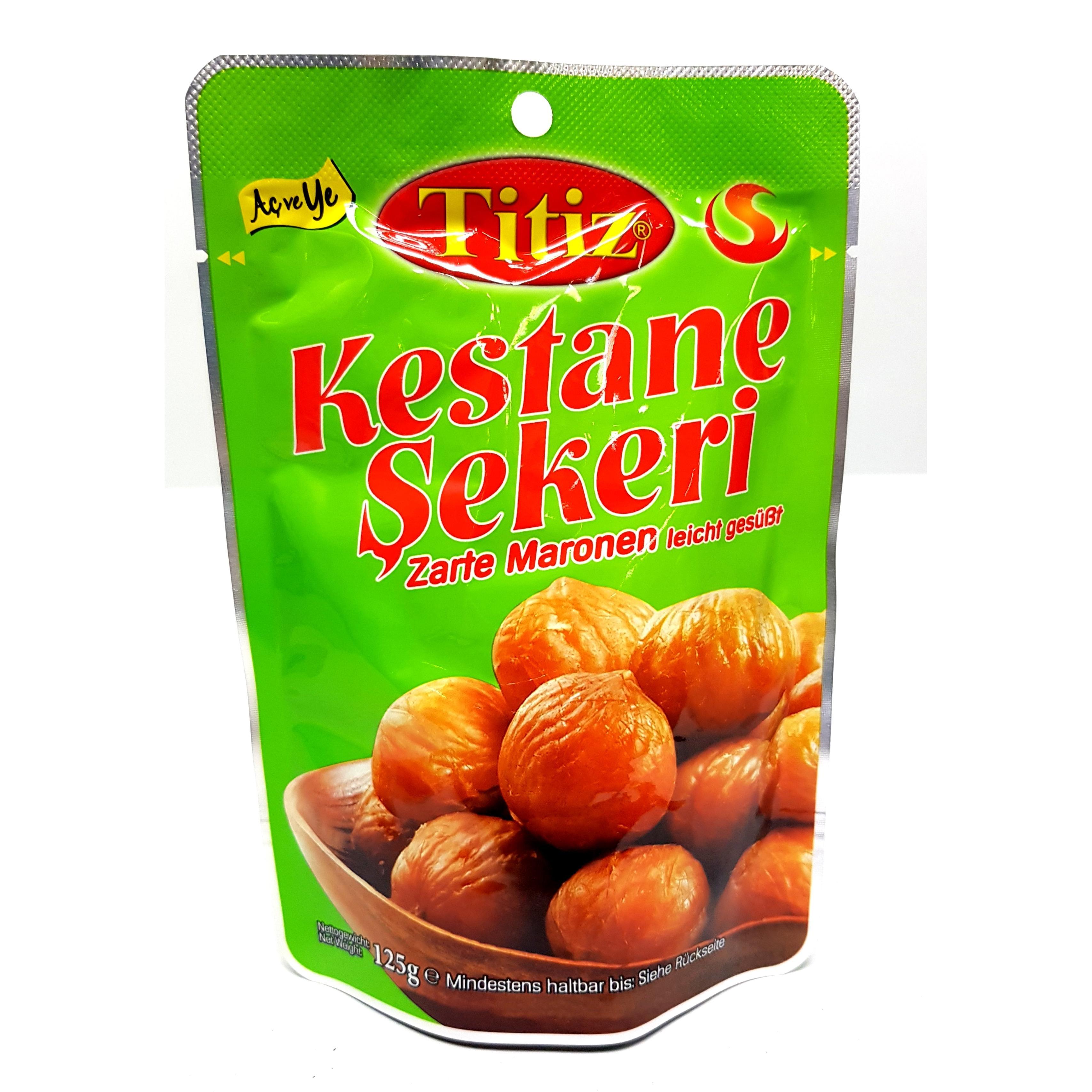 Titiz zarte Maronen geschält & geröstet (leicht gesüßt) 125g