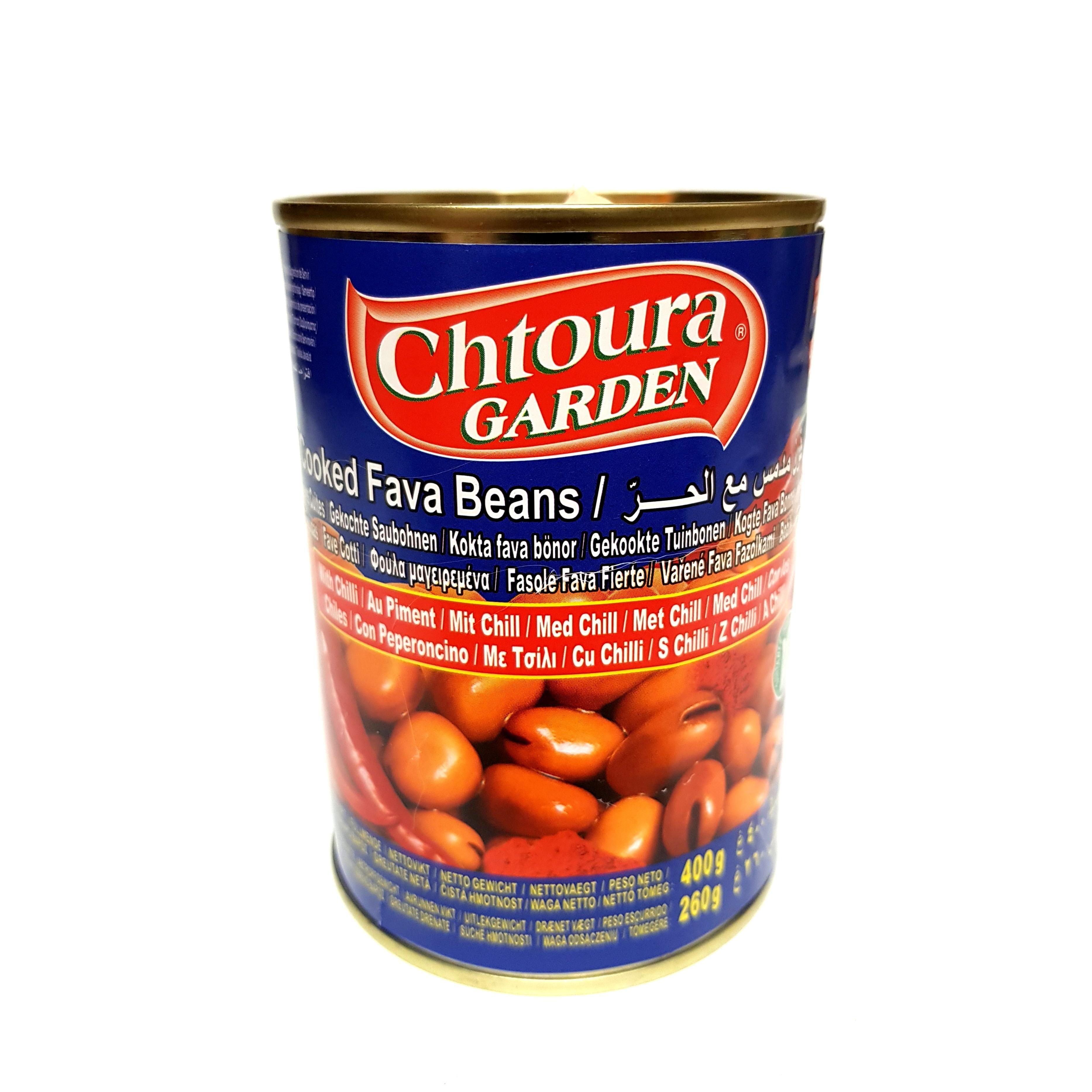 Chtoura Saubohnen Bohnen mit Chili Foul Medammas with Chilli 400g