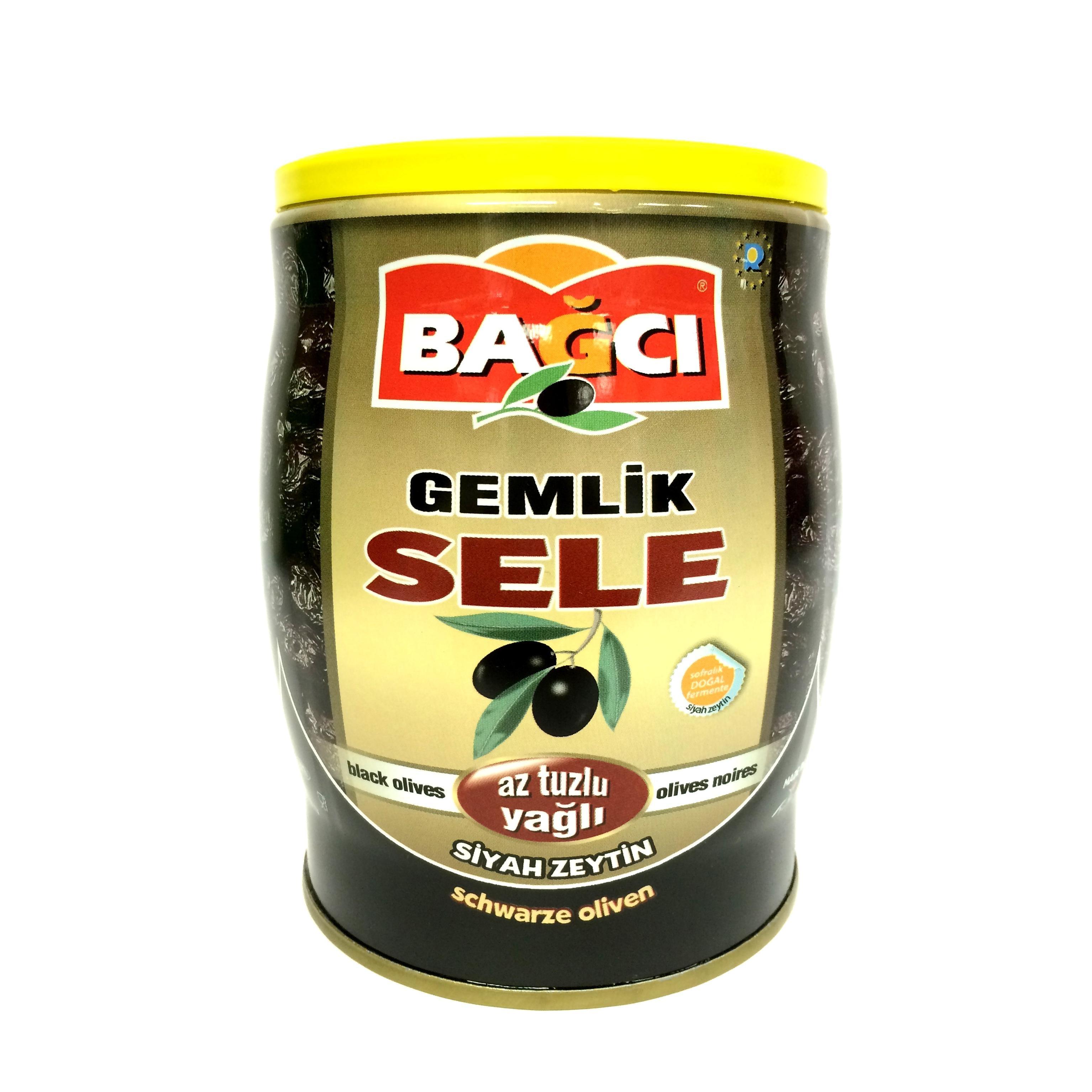 Bagci schwarze Oliven in Dose - Siyah SELE Zeytin 750g