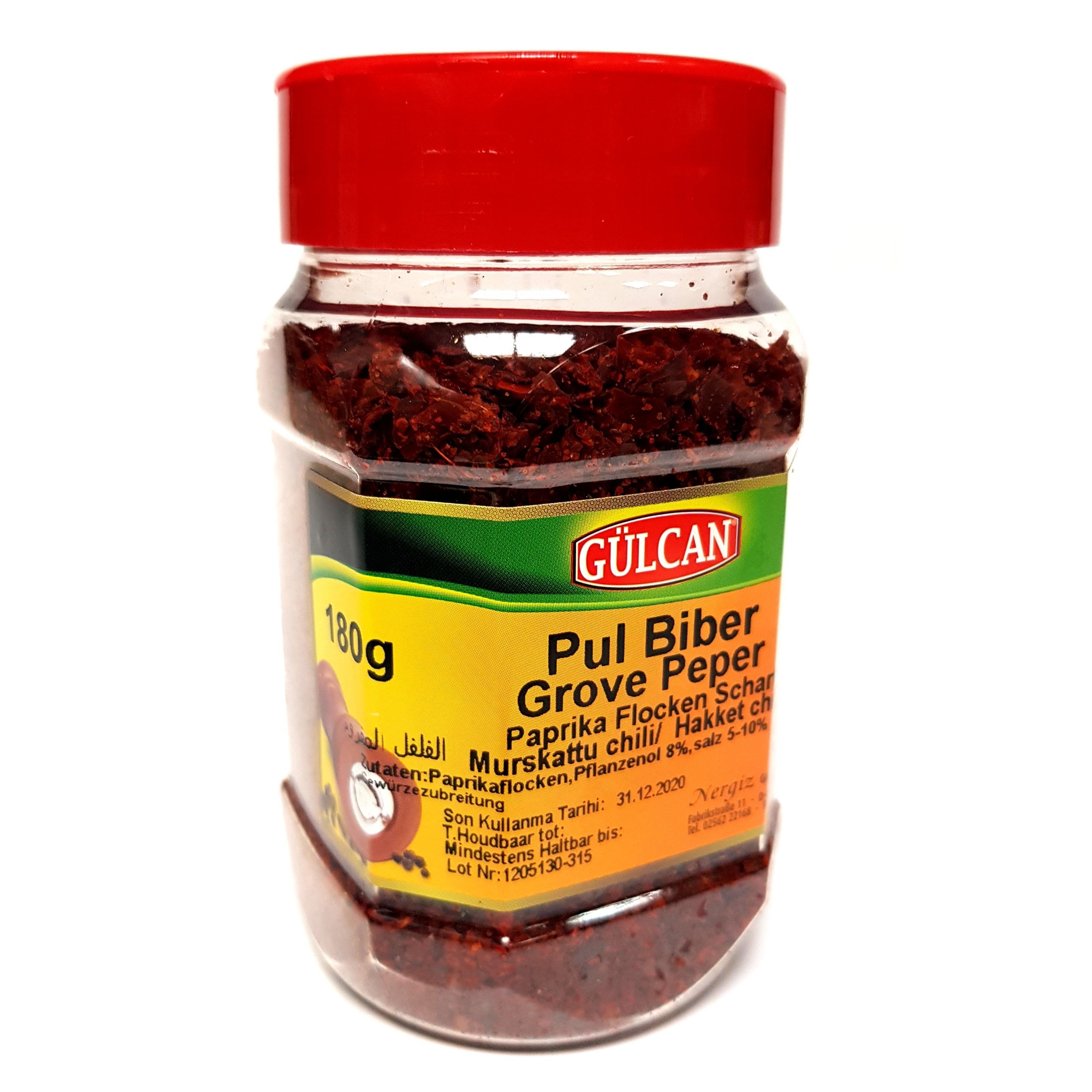 Gülcan Chili-Paprikaflocken Gewürzzubereitung 180g