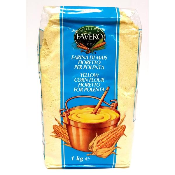 Favero Maismehl Polenta Fioretto (blaue Verpackung) 1000g
