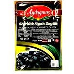 Aydogmus Schwarze Oliven fleischig und wenig gesalzen 700g