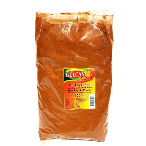 Gülcan Chilipulver Paprikapulver im Beutel scharf gemahlen 1000g