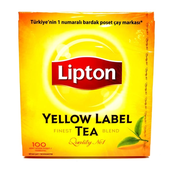 Lipton Yellow Label Tea Schwarzer Tee 150g, 100 Beutel
