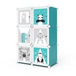 VICCO Kleiderschrank ANDY Kinder Regal DIY modular 6 Fächer Kleiderstange Steckregal