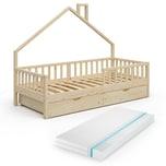 VitaliSpa Hausbett Kinderbett Spielbett Noemi 90x200cm inkl. Matratze Schubladen