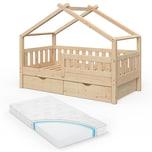 VitaliSpa Design Kinderbett 160x80 Babybett Jugendbett 2 Schubladen Lattenrost Matratze