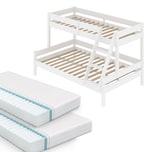 VitaliSpa Kinderbett Everest Etagenbett Weiß Hochbett Stock Bett 90x200 140x200