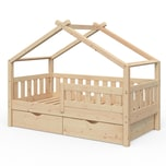 VitaliSpa Design Kinderbett 160x80 Babybett Jugendbett 2 Schubladen Lattenrost