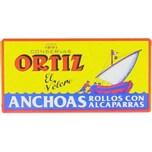 Ortiz Anchovi Rollen mit Kapern ca. 47.5 g