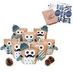 Pajoma Adventskalender Bastelset Owl blue + Extras