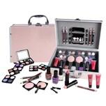 Schminkkoffer Zmile Cosmetic Set Profi Qualität 42tlg Alukoffer Beauty Case rosa