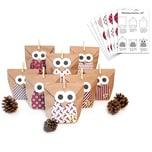 Pajoma Adventskalender Bastelset Owl red