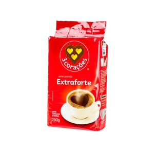 Coracoes Kaffee gemahlen Café 3 Extra-Forte 250g
