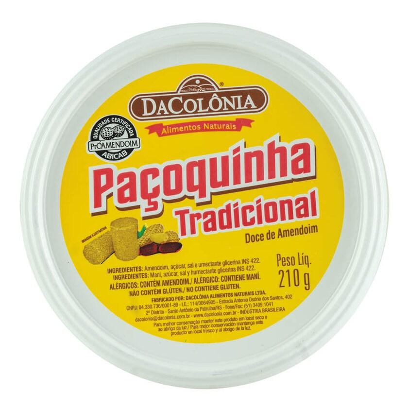 Dacolonia Feiner Erdnuss-Riegel Paçoca Rolha Tradicional 210g