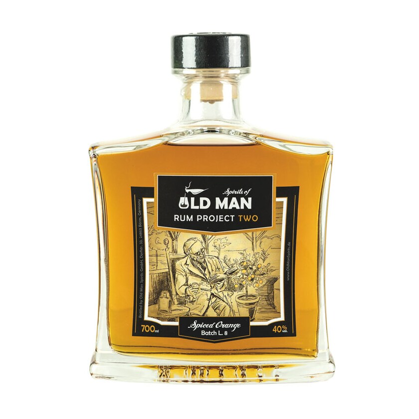 Old Man Rum Project Two Spirit Spiced Orang 40% vol. 700ml