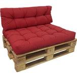 Diluma Palettenkissen Set Comfort Rot