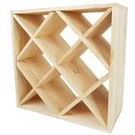 Diluma Weinregal Bacchus XX-Cube 52x52x25 cm natur