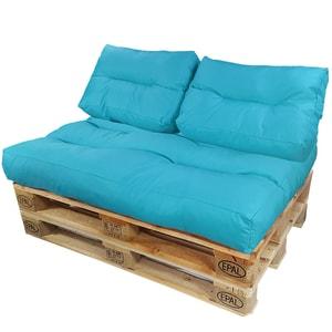Diluma Palettenkissen Lounge Summer 3 teilig in Aqua