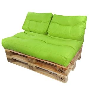 Diluma Palettenkissen Lounge Set 3 teilig Grün
