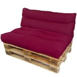 Diluma Palettenkissen Lounge Set 2 teilig Beere