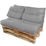 Diluma Palettenkissen Lounge Set 4 teilig in Grau