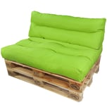 Diluma Palettenkissen Lounge Set 2 teilig Grün