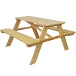 Diluma Kinder Picknicktisch aus Holz 90 x 90 x 49 cm