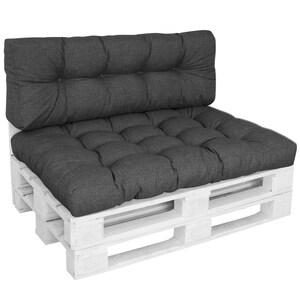 Diluma Palettenkissen Set Comfort Anthrazit