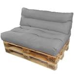 Diluma Palettenkissen Lounge Set 2 teilig Grau