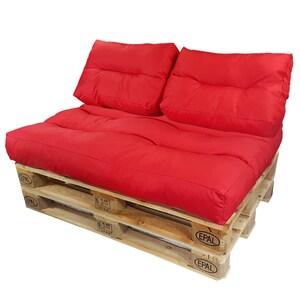 Diluma Palettenkissen Lounge Set 3 teilig Rot